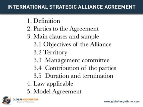 alliance agreement template international strategic alliance agreement contract