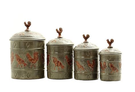rooster canisters my chicken kitchen pinterest
