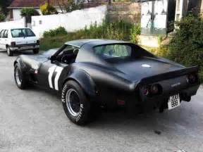 flat black c3 corvette with fender flares corvettes