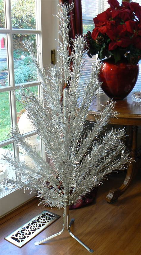 when were aluminum trees popular vintage 50s or 60s 4 foot aluminum tree by