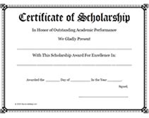 Award Wording Sles Party Invitations Ideas Memorial Scholarship Application Template