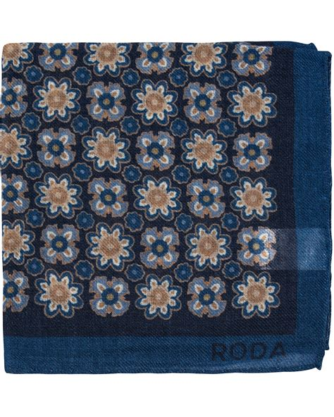 Square Big Flower roda pocket square big flower navy hos careofcarl