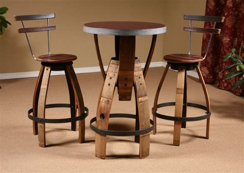 wine bar tables and chairs 17 best images about wine barrels on bottle