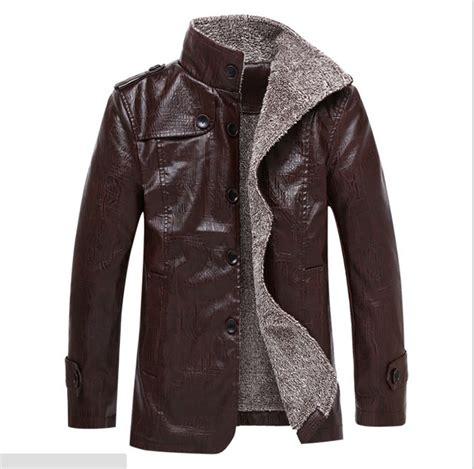 Jaket Catton Door winter jacket leather cotton blend coats zipper mens
