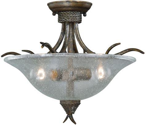 rustic ceiling light fixtures vaxcel c0044 monterey rustic autumn patina finish 16 5
