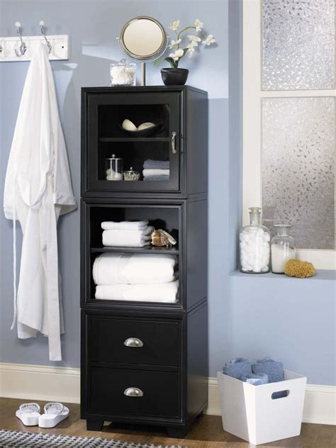 Bathroom Storage Black Black Bathroom Cabinet