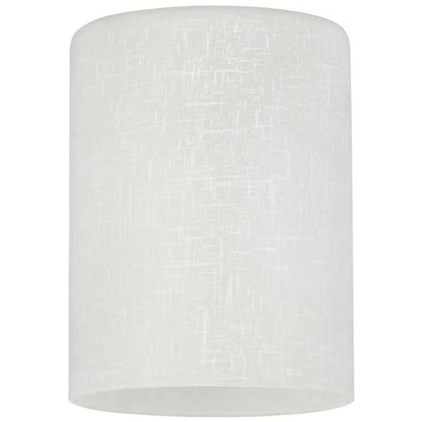 home depot light covers westinghouse 5 1 8 in hand blown white linen cylinder