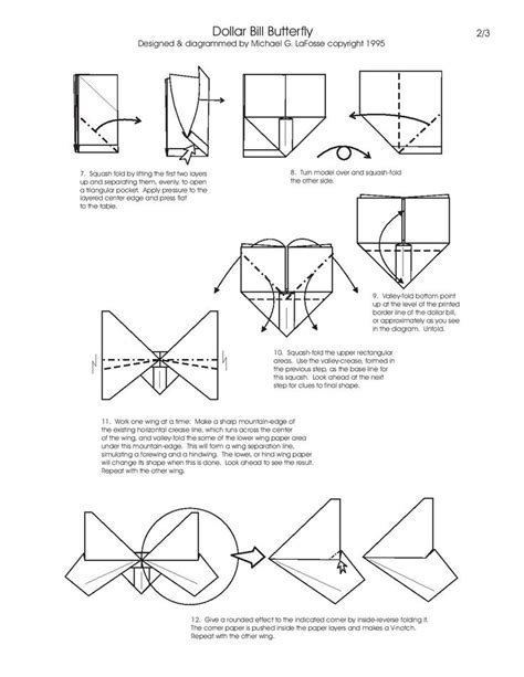 Dollar Origami Diagrams - 26 best paper origami and folding diagrams images on