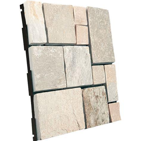 terrasse quartzite dalle clipsable patchwork en quartzite