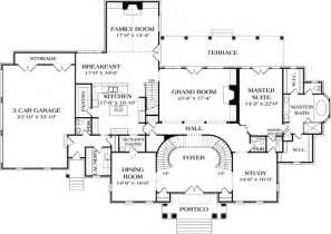 Manor Floor Plans Stately Georgian Manor 17563lv 1st Floor Master Suite