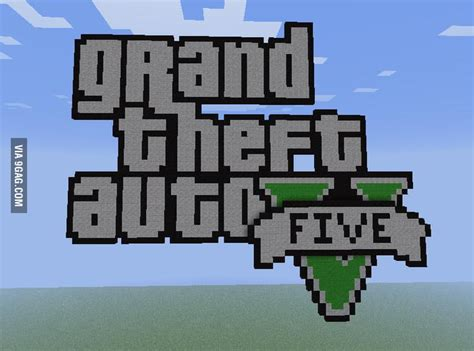 gta  logo  minecraft gag