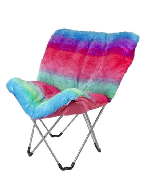 faux fur butterfly chair pink rainbow faux fur butterfly chair room decor room