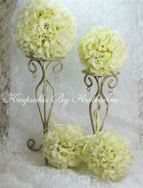 Yellow Rose Topiary Kissing Balls on Sale by