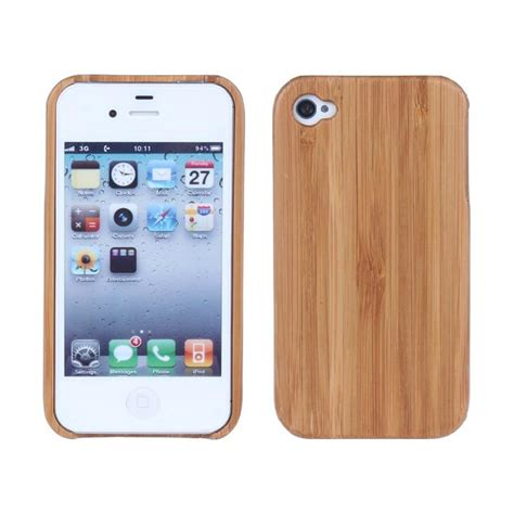 Iphone 4 4s Wooden Shell i4 laser pattern phone for apple iphone 4 4s