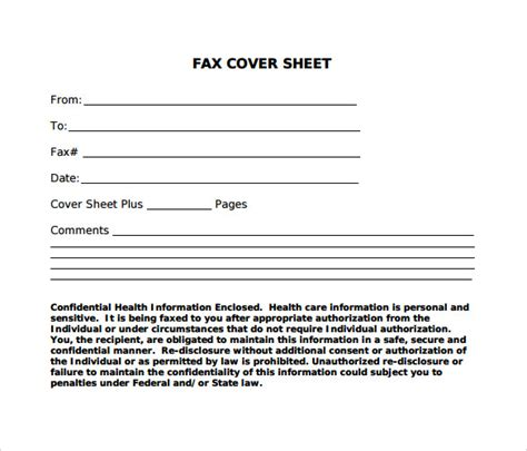 fax cover sheet template pdf standard fax cover sheet 11 free sles exles