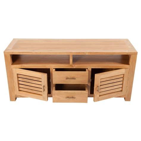 meubles en teck meuble tv teck 2 portes 2 tiroirs origin s meubles