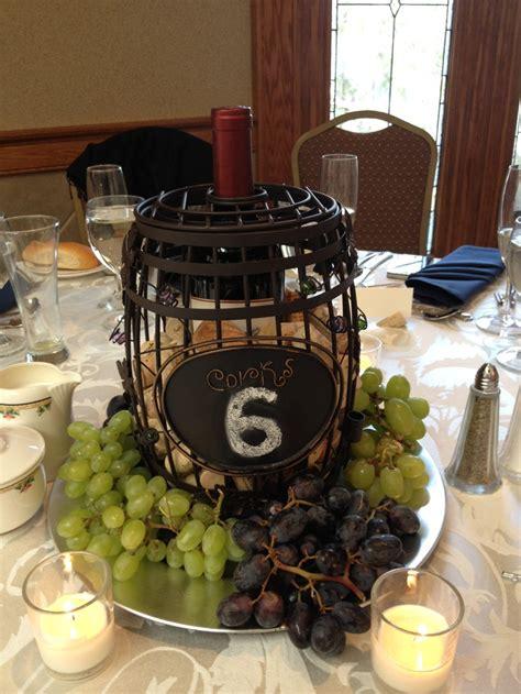 wine theme centerpiece wedding pinterest