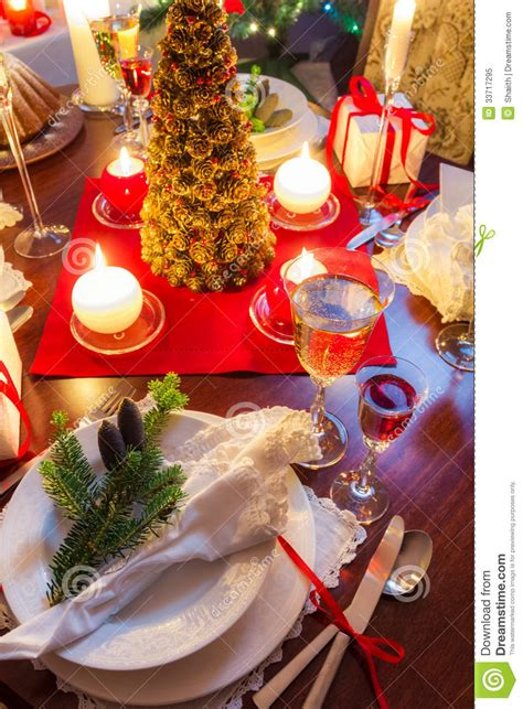 christmas for preparation preparation for dinner at table royalty free stock photo image 33717295