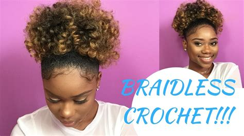 good hair to use for crochet hairstyles how to achieve a braidless crochet high puff kamdora