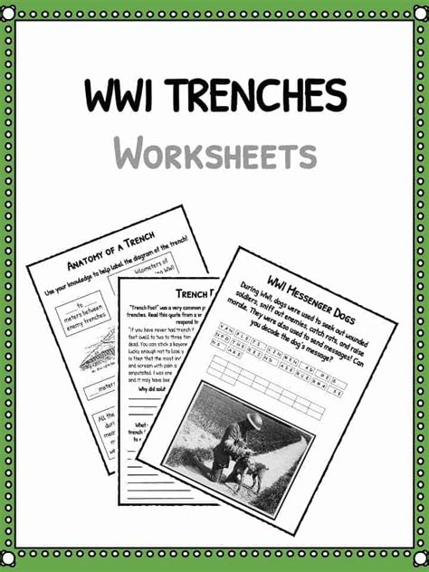 ww trenches facts  world war  trench warfare
