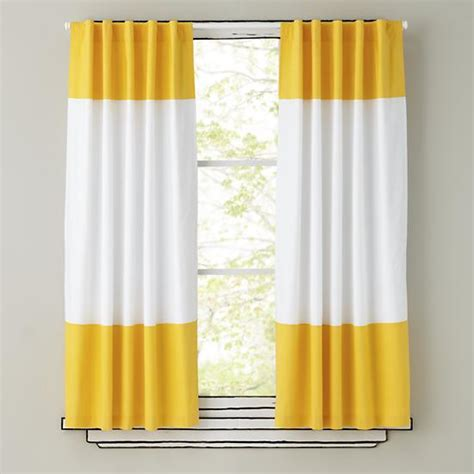 yellow drapes 84 quot color edge curtain panel yellow the land of nod