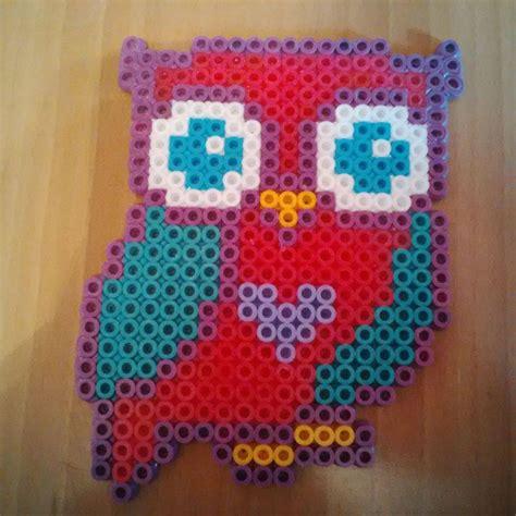 where can i buy hama pink turquoise owl hama perler bead design by karla jade