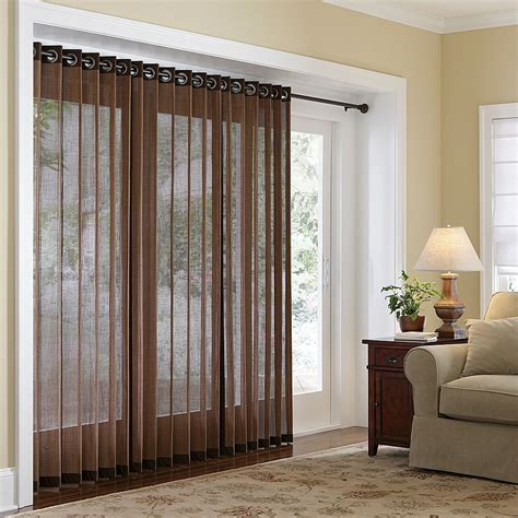 sliding door window curtains naples bamboo grommet panels three lengths four color