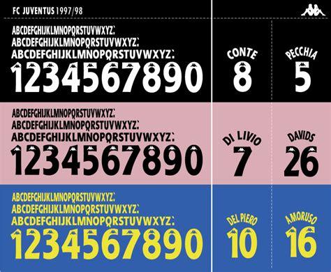 Custom Name Polyflex Font Juventus 1999 font juventus 1997 98 season updated timix patch timix patch
