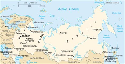 map of siberia russia with cities lena river flowing river of eastern siberia
