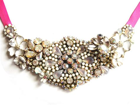 Handmade Bridal Jewelry - statement wedding jewelry bridal necklace etsy handmade 11