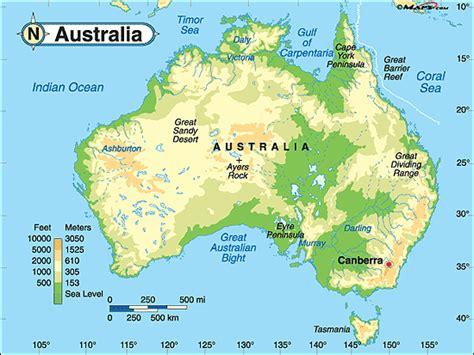geographical map australia australien geographischen karte