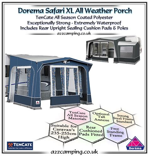 Dorema Safari Xl Porch Awning by 2018 Dorema Safari Xl Porch Awning