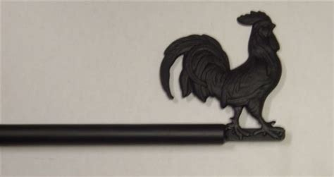 rooster curtain rod catalog gift shop hammer by hand master blacksmith