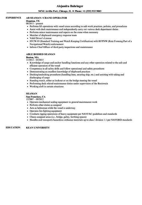 exle of resume letter for seaman seaman resume sles velvet