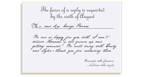 Formal Wedding Invite Response Card by Rsvp Etiquette Traditional Favor Accepts Regrets Placement