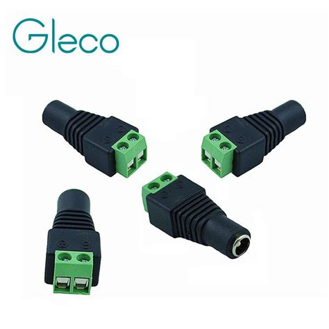 Dc Conector dc connector for single color led to power adapter