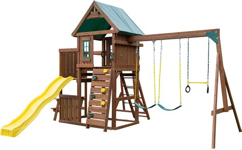 swing set kits without wood swing set outdoor slide backyard kids play swingset