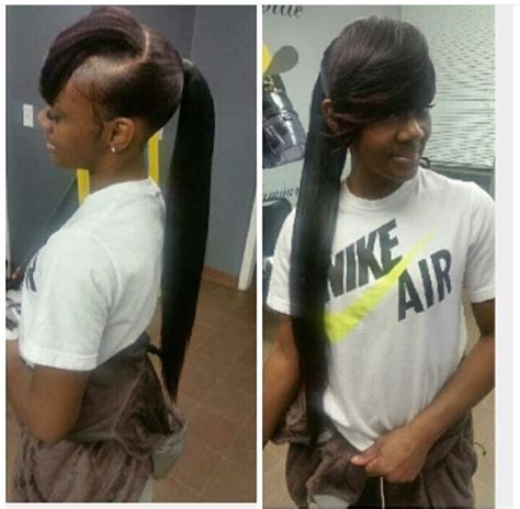 weave ponytail and side bang invisible ponytail with side bang hairweavekilla