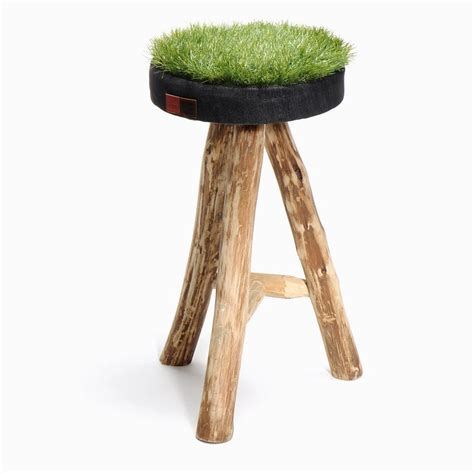 unique stools unique stools with patch of grass on the seats green