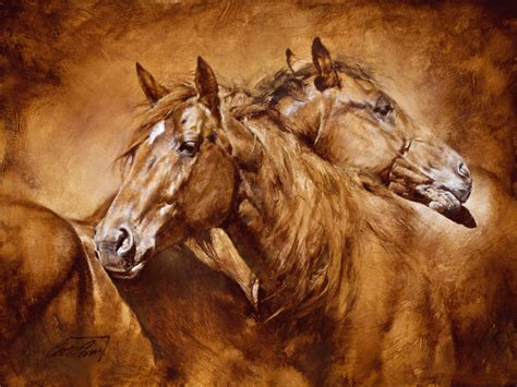 chris comfort chris owen comfort signed numbered horse print