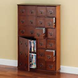 Cd Storage Cabinet The Space Saving Cd Dvd Storage Cabinet Hammacher Schlemmer