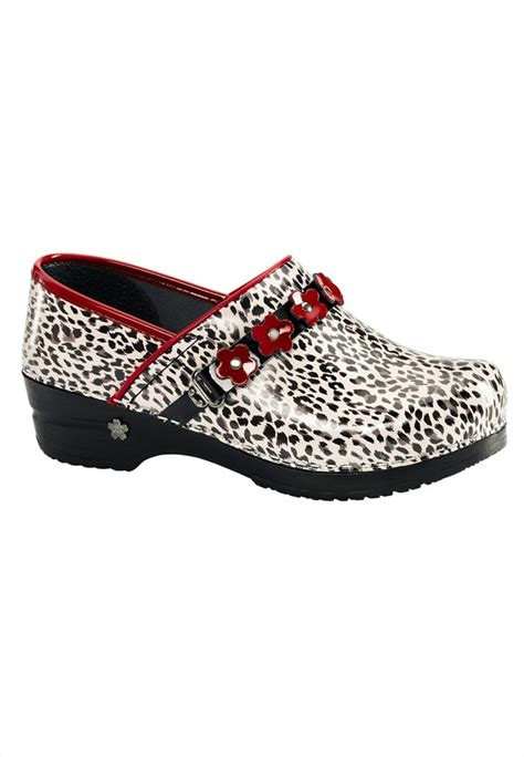 clogs for nursing koi by sanita poppy leopard nursing clog nursing clogs