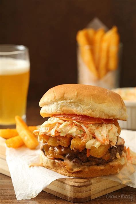 Handmade Burger Recipe - the pittsburger primanti style burger with fries
