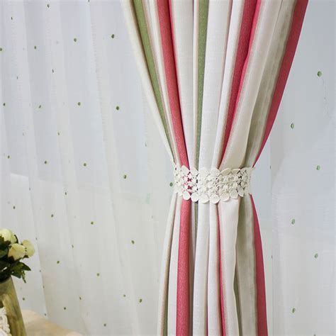 Pink Striped Curtains Pink And Green Striped Curtains Curtain Menzilperde Net