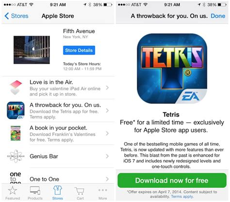 Apple App Store Giveaway - official tetris app now free in apple store app promotion mac rumors