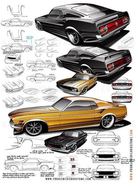 Mustang Auto Zeichnen by Mustang Details Automotive Sketching Pinterest Moin