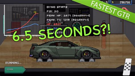 pixel race car 6 5 second pixel car racer tune fastest r35 gtr no