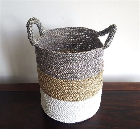 Handmade Decorative Baskets - basket large handmade seagrass storage