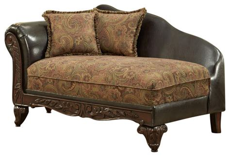 traditional chaise lounge 65 quot traditional chaise traditional indoor chaise