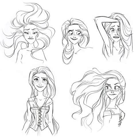 disney hairstyles drawing el ba 250 l de los deseos antes y despu 233 s rapunzel